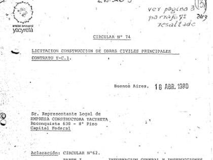 Uno de los documentos de la causa judicial más antiguos, fechado el 16 de abril de 1980