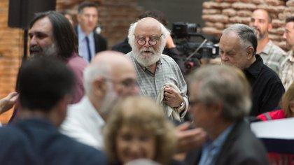 Juan Sasturain en la presentación del Plan Nacional de Lecturas, la semana pasada (Foto: Adrián Escandar)