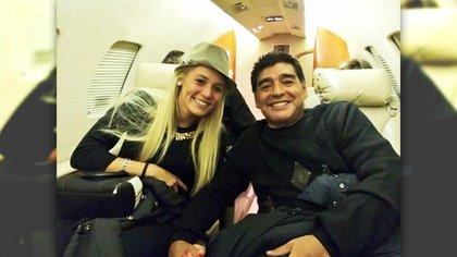 Diego Maradona y Rocío Oliva fueron pareja entre 2013 y 2019