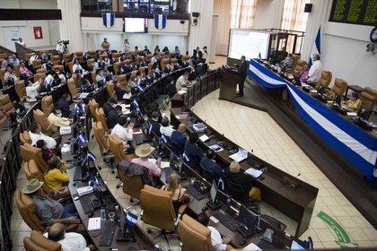 Vista general de los diputados del parlamento de Nicaragua en Managua (Nicaragua). EFE/Jorge Torres/Archivo