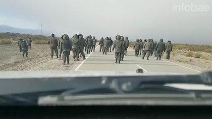 El momento en que se inició el operativo de Gendarmería del 1º de agosto de 2017 en el Paraje Leleque, Chubut