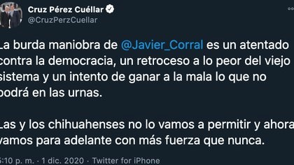 Cruz Pérez Cuéllar (Foto: Twitter @ CruzPerzCuellar)