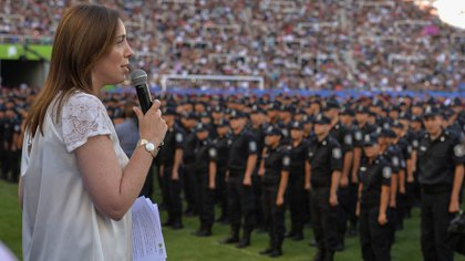 La gestión de María Eugenia Vidal también estuvo signada de escándalos policiales (NA)