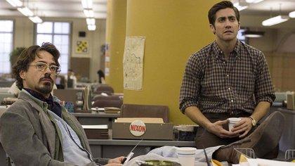 """Robert Downey Jr. y Jake Gyllenhaal en """"Zodiac"""""""