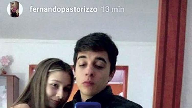 Nahir Galarza y Fernando Pastorizzo en una de las pocas imágenes que trascendieron de ellos juntos.
