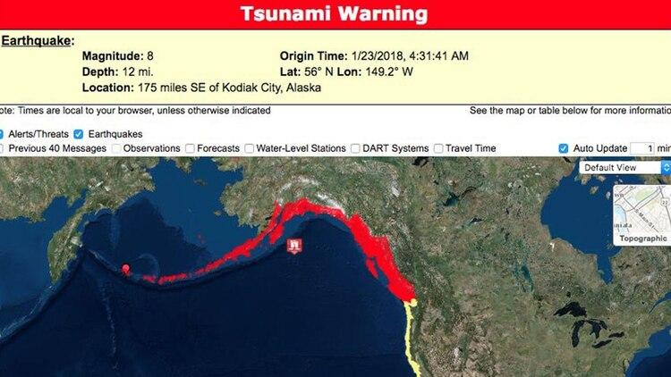 Este año podría haber un tsunami en la zona polar (Foto: @weather_es)