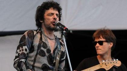 Juanse y Pablo Memi, el bajista de los Ratones Paranoicos (Télam)
