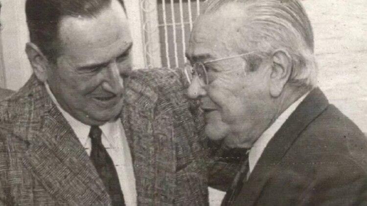 Juan Domingo Péron y Ricardo Balbín