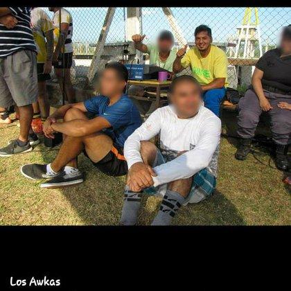 Matías Rojano, de remera amarilla, uno de los detenidos por la muerte de Yamil.
