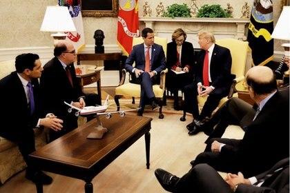Juan Guaidó y Donald Trump en la Casa Blanca