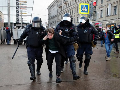 Arresto en San Petersburgo (Reuters)