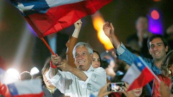 Sebastián Piñera en el acto de cierre de campaña (EFE)