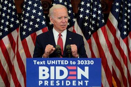 Joe Biden habla durante un acto en Filadelfia (REUTERS/Joshua Roberts)