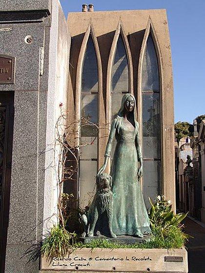 Liliana Crociati murió durante su luna de miel por un alud en los Alpes suizos. Ese mismo día, en Buenos Aires, falleció su perro Sabú