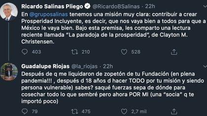 Tuits Salinas Pliego (Foto: Twitter@RicardoBSalinas)