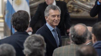 Mauricio Macri, tras la jura de Hernán Lacunza (Adrián Escandar)