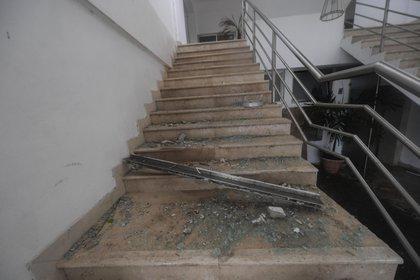 Imágenes de los daños del huracán Delta en Cancún (Foto: Pedro Pardo: AFP)