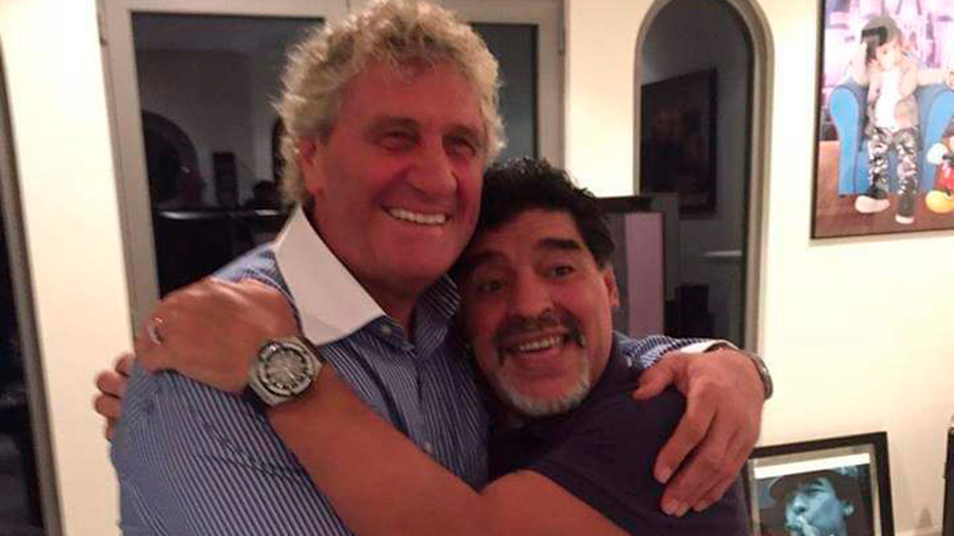 Jean Marie Pffaf con Maradona