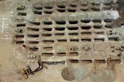 Imagen satelital de las narcofosas (Foto: FRANCISCO ROBLES / AFP)