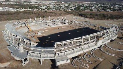 Así lucen las obras del estadio (Foto: Twitter)
