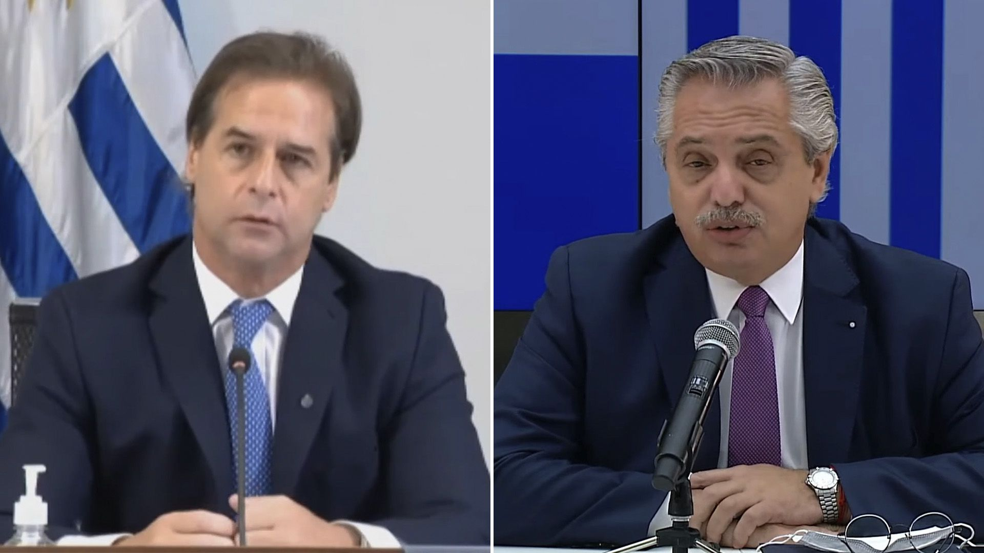 Duro cruce entre Alberto Fernández y Lacalle Pou por el futuro del Mercosur