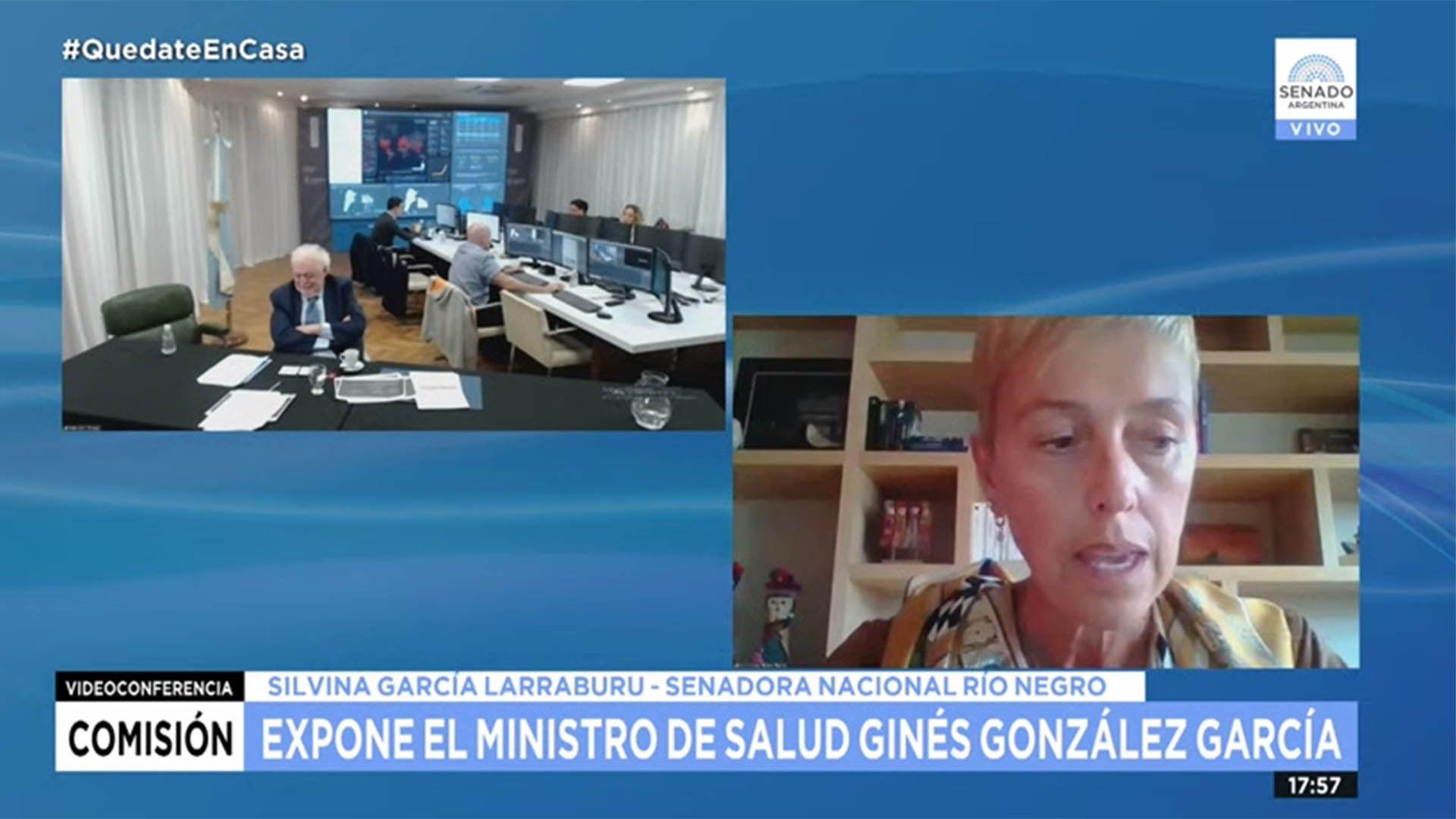 Ginés González García expuso esta tarde frente a senadores de la comisión de Salud