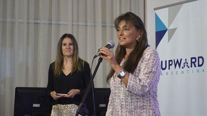 Viviana Zocco durante la presentación del Encuentro Internacional de UPWARD Argentina