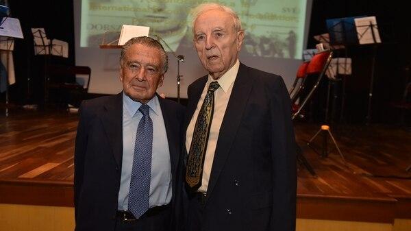 Eduardo Eurnekian y Baruj Tenembaum, presidente y fundador, respectivamente, de la Fundación Internacional Roul Wallenberg (Foto: Guillermo Llamos)