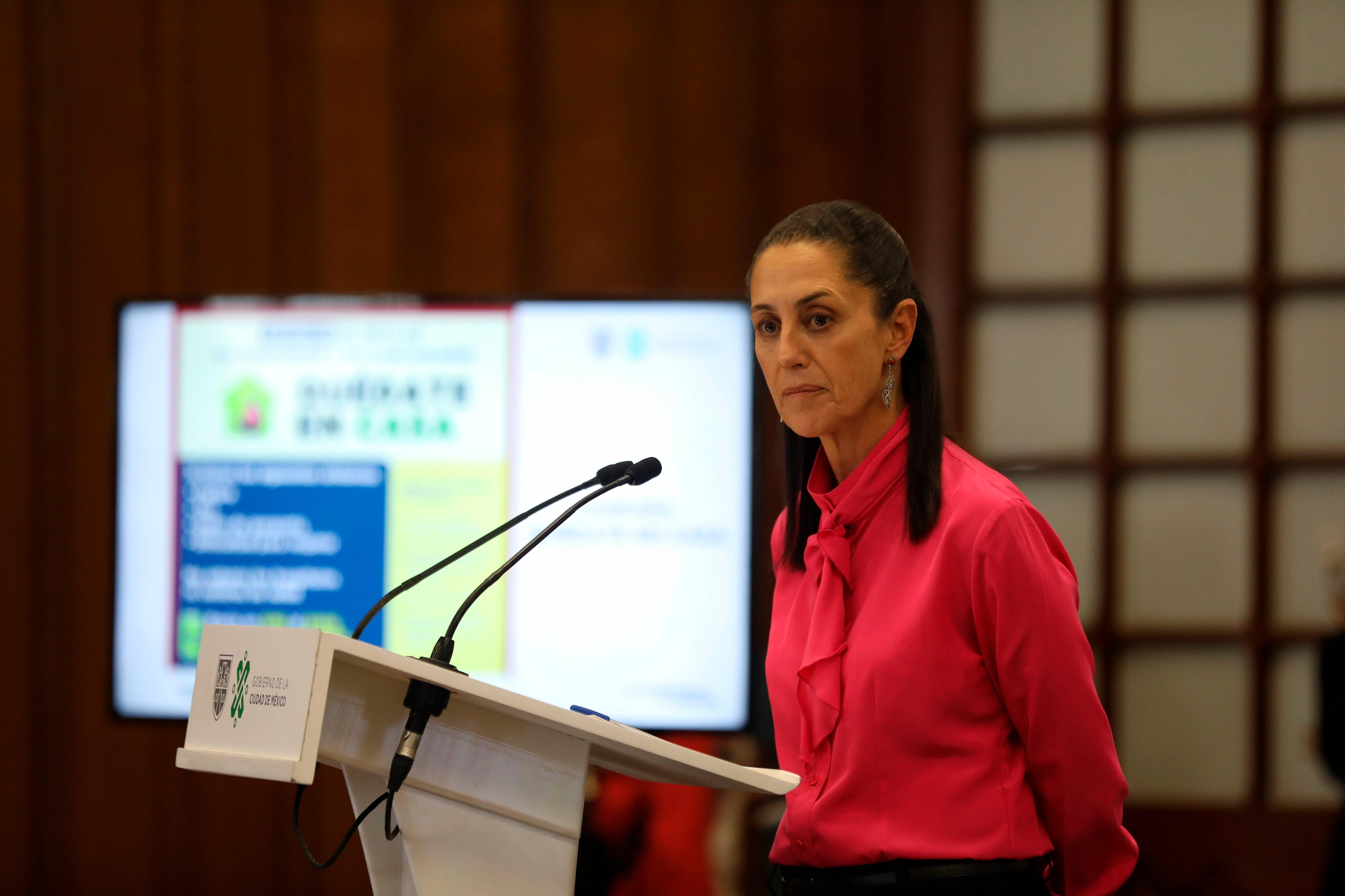 La jefa de Gobierno de Ciudad de México, Claudia Sheinbaum, habla durante una rueda de prensa en Ciudad de México (México). EFE/ Sáshenka Gutiérrez/Archivo