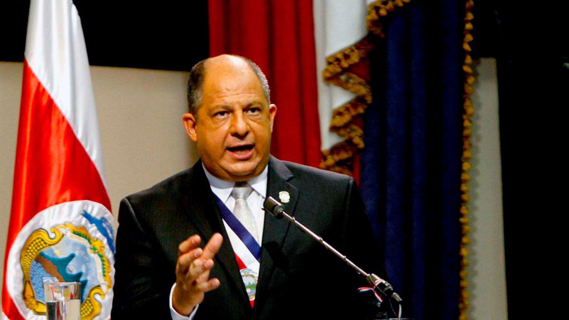 Luis Guillermo Solís, presidente de Costa Rica entre 2014 y 2018