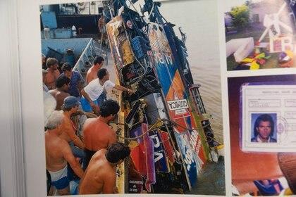 La lancha fue encontrada en las profundidades del Río Paraná seis días después del accidente