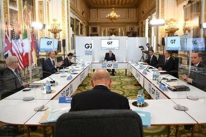 La reunión del G-7. REUTERS/Stefan Rousseau
