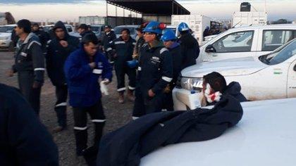Imágenes del enfrenteamiento entre dos facciones de la UOCRA en Neuquén