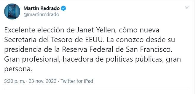 Tuits Janet Yellen