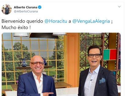 Alberto Ciurana también le dio la bienvenida a Horacio Villalobos