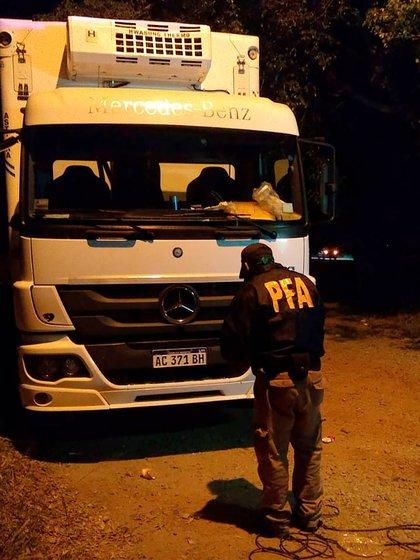 El camión incautado en Salta
