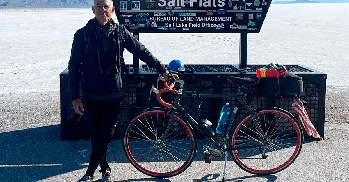 Argentine who decided to cross the US by bicycle