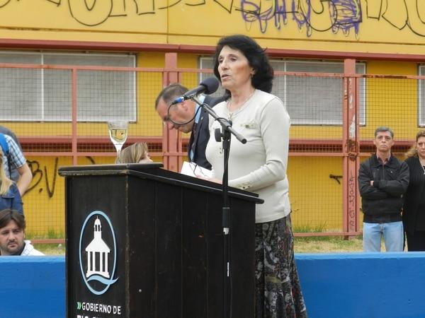María Cristina en un acto por el 2 de abril en Río Cuarto