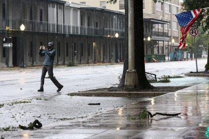 Huracán Sally en Mobile, Alabama. REUTERS/Jonathan Bachman