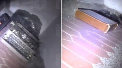 En el escondite se encontró una máquina de escribir y otros objetos, además de los 18 millones de dólares