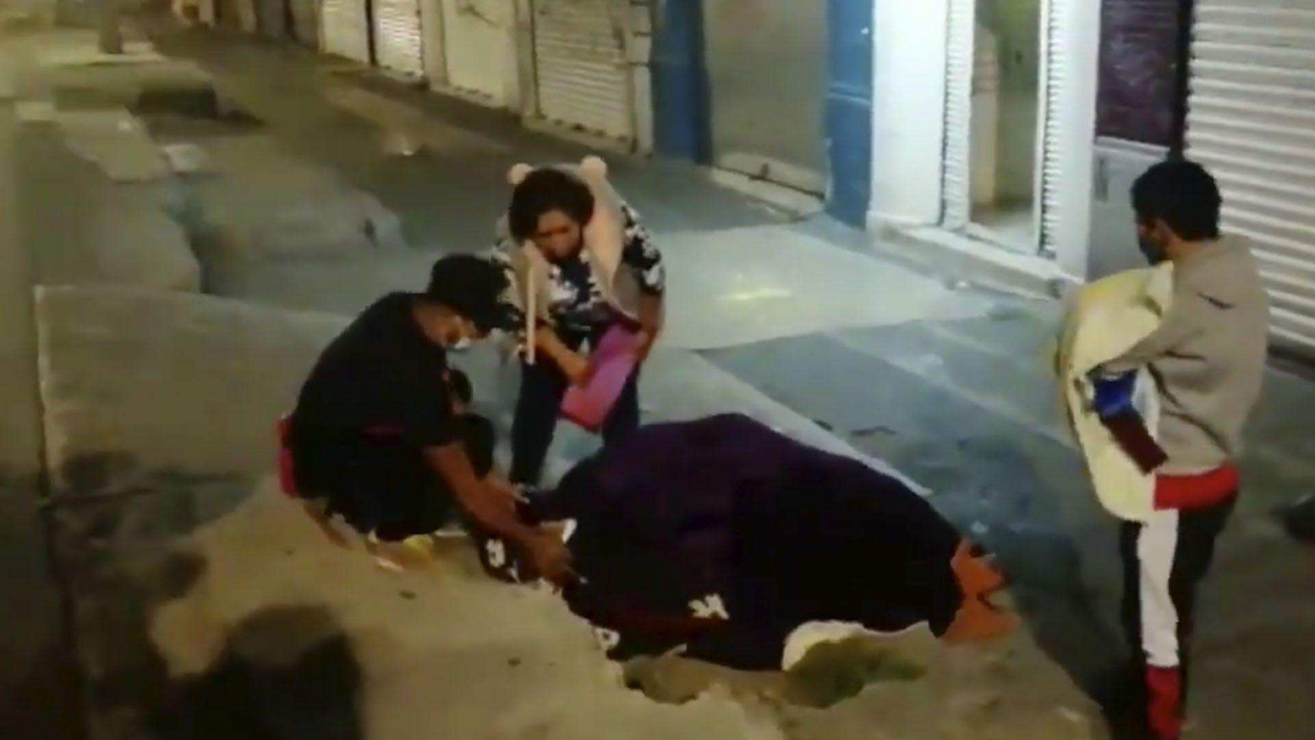 Nace bebé en las calles de la CDMX (Foto: captura de pantalla twitter@imagenYuri)