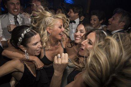 Barby Franco, Barbie Simons y Julieta Novarro festejan con Pampita