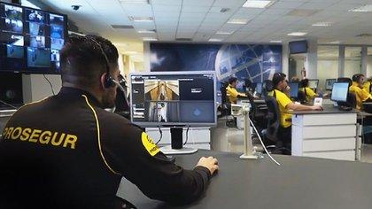 Centro de control y monitoreo de Prosegur