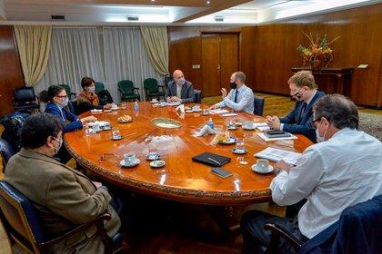La reunión del Gabinete Económico encabezada por Martín Guzmán