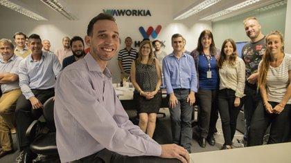 Alfredo Terlizzi en las oficinas de Workia (Lihue Althabe)