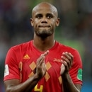 Soccer Football - World Cup - Semi Final - France v Belgium - Saint Petersburg Stadium, Saint Petersburg, Russia - July 10, 2018 Belgium's Vincent Kompany applauds fans after the match REUTERS/Henry Romero