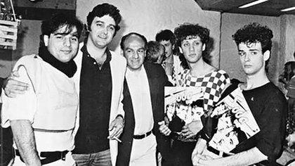 Gustavo junto a Zeta y Charly en la presentación del disco debut