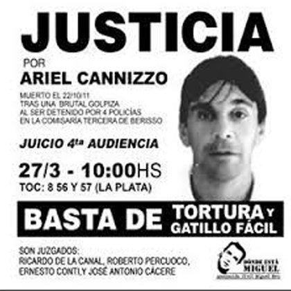 Juicio por la muerte de Ariel Canizzo @monocarugatti