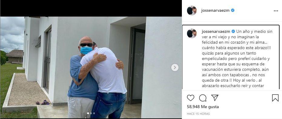 Post en Instagram de Josse Narváez. Foto: Instagram @jossenarvaezm