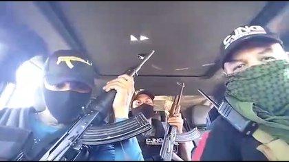 CJNG en la Ciudad de México (Foto: Captura de pantalla)